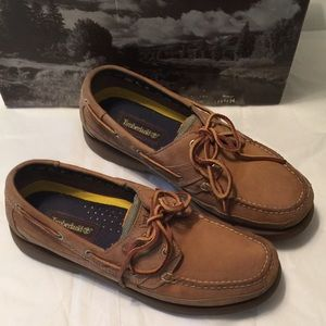 Timberland Tan Leather Boat Loafers Size 10.5